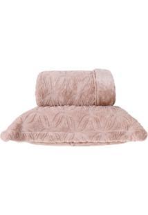 Cobertor King Slim Peles Dupla Face Com Porta Travesseiro - Macchiato
