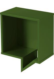 Prateleira Cartoon Quadrada Verde Musgo Laca M284