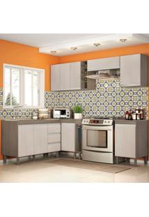 Cozinha Modulada Karen 8 Módulos 7800 Malbec/Avelã - Mpdecor