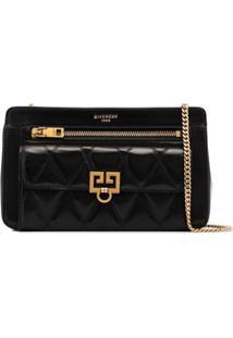 Givenchy Bolsa Tiracolo 'Pocket' Matelassê De Couro - Preto