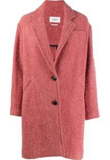 Isabel Marant Étoile Dante Single Breasted Coat - Rosa