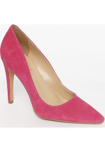 Scarpin Em Couro Com Salto Fino- Pink- Salto: 10,5Cmluiza Barcelos