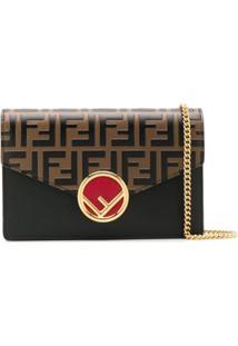 Fendi Ff Envelope Crossbody Bag - Preto