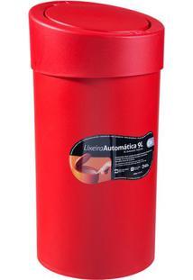 Lixeira Automã¡Tica- Vermelha- 9L- Brinoxbrinox