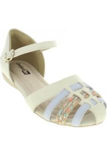 Sandália Classic Soft Comfortflex 1668405 Feminina - Feminino-Off White
