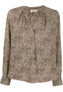 Zadig&Voltaire Tink Leopard-Print Blouse - Neutro