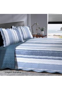 Conjunto De Edredom Renove Laios King Size- Azul Escuro Buettner