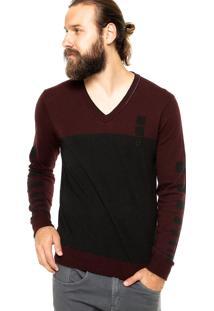 Suéter Calvin Klein Jeans Basico Vinho