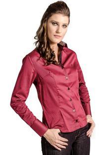 Camisa Amarela Slim feminina  940094c93483a