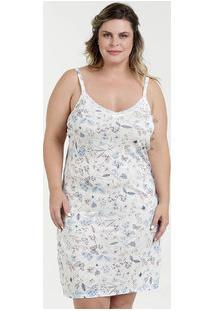 Camisola Feminina Floral Plus Size Alças Finas Marisa