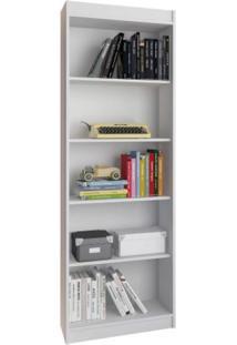 Estante Para Livros 4 Prateleiras Atualle Móveis Branco Fosco