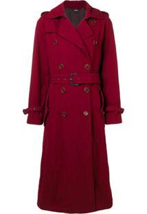 Aspesi Trench Coat Com Cinto - Vermelho