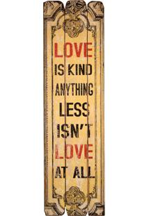 Quadro Decorativo Vintage De Parede Love Is Kind