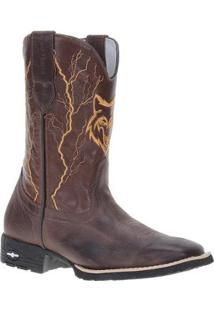 Bota Couro Country Cow Way Masculino - Masculino-Café
