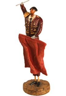 Escultura Decorativa De Resina Toureiro Iii
