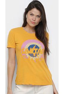 Camiseta Cantão Verão 90'S Feminina - Feminino-Amarelo