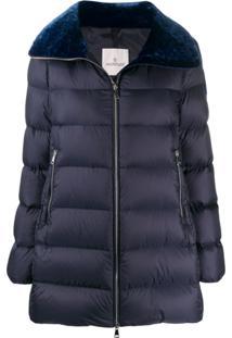 Moncler Velvet Collar Zipped Jacket - Azul