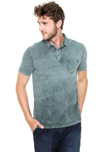 Camisa Polo Replay Estonada Verde