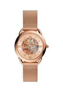 Relógio Fossil Tailor Automatic Feminino Rosé Me3165/1Jn Me3165/1Jn