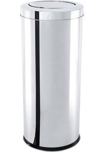 Lixeira Com Tampa Basculante- Inox- 61,8Xø34Cm- Brinox