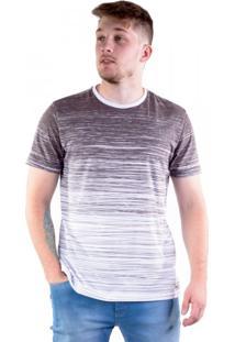 Camiseta Full Print Degradê Listras