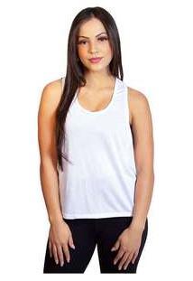 Camiseta Feminina Regata Luma Ventura Poli Branca White