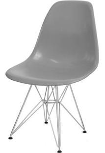 Cadeira Eames Polipropileno Cinza Cromada - 24129 Sun House