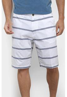 Bermuda Gajang Listrada Masculina - Masculino-Branco