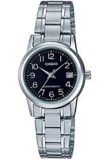 Relógio Casio Analógico Ltp-V002D-1Budf Feminino - Feminino-Prata