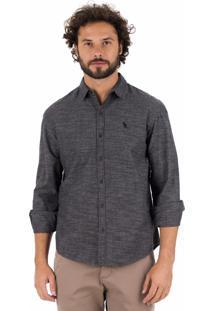 Camisa Side Walk Camisa Blend Cinza