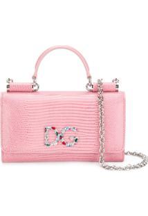 Dolce & Gabbana Bolsa Transversal 'Von' De Couro - Rosa
