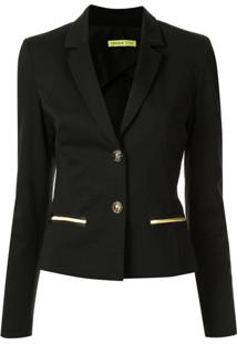 Versace Jeans Fitted Blazer - Preto