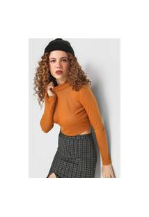 Blusa Cropped Forever 21 Lisa Caramelo