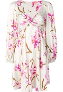 Zimmermann Vestido Floral Com Detalhe Drapeado - Neutro