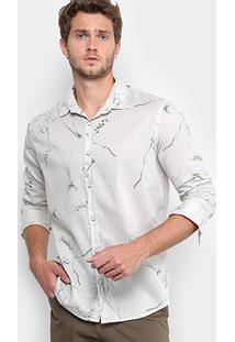 Camisa Reserva Ramos De Flor Masculina - Masculino-Off White
