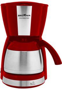 Cafeteira Thermo Vermelha/Prata 700W Britânia 220V Bcf38Vi