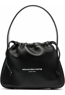 Alexander Wang Bolsa Tiracolo Tasche Com Cordão De Fechamento - Preto