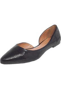 Sapatilha Dafiti Shoes Dorsay Cobra Preta