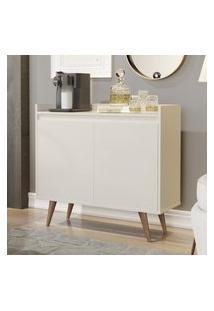 Aparador Buffet Com 2 Portas Retrô Clean - Off White - Rpm Móveis