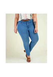Calça Plus Size Jeans Feminina Skinny