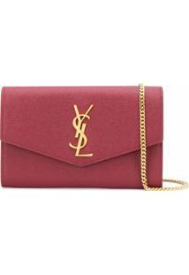 Saint Laurent Bolsa Tiracolo Envelope Mini - Vermelho