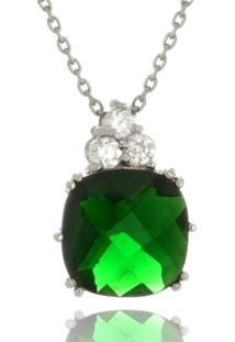 Colar Le Diamond Zircônia Verde Esmeralda - Tricae
