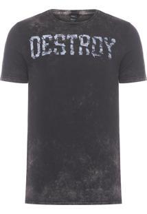 Camiseta Masculina Destroy - Preto