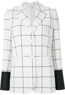Tory Burch Blazer Hot Estampa Quadriculada - Branco