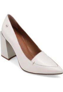 Sapato Salto Alto Rebite Personalizado Off White