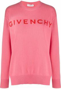 Givenchy Suéter De Cashmere Com Logo - Rosa