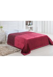 Cobertor King Dublin 2,20X2,40M - Niazitex Vinho