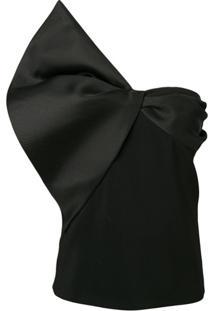 Lanvin Bow Detail Strapless Top - Preto