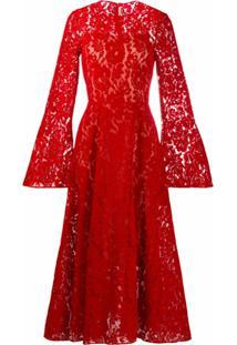 Christopher Kane Vestido De Renda - Vermelho