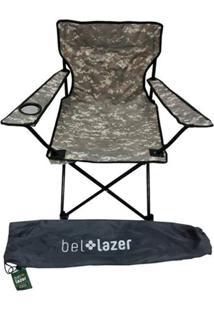 Cadeira Araguaia Conforto C/ Braço Camuflada Verde Belfix - Tricae